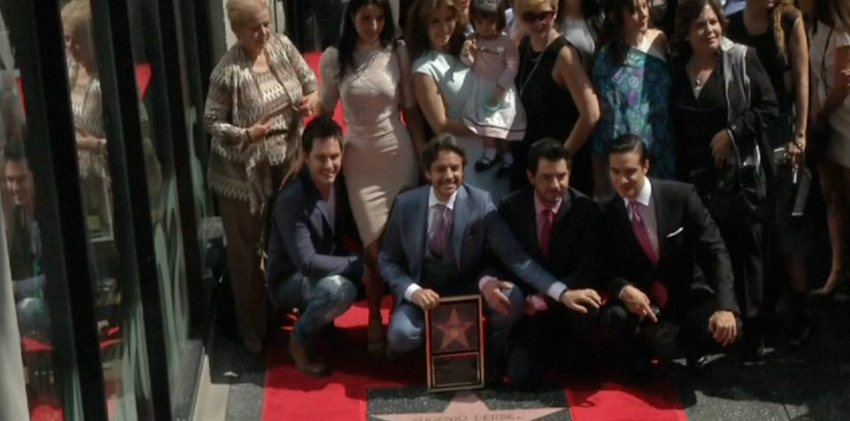 Mexican actor Eugenio Derbez honored with star on Hollywood Walk of Fame
