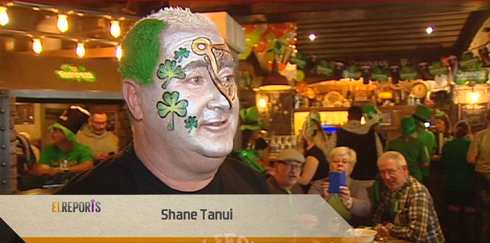 Shane Tanui New Zealanders and Australians paint the town green for St Patrick's Day