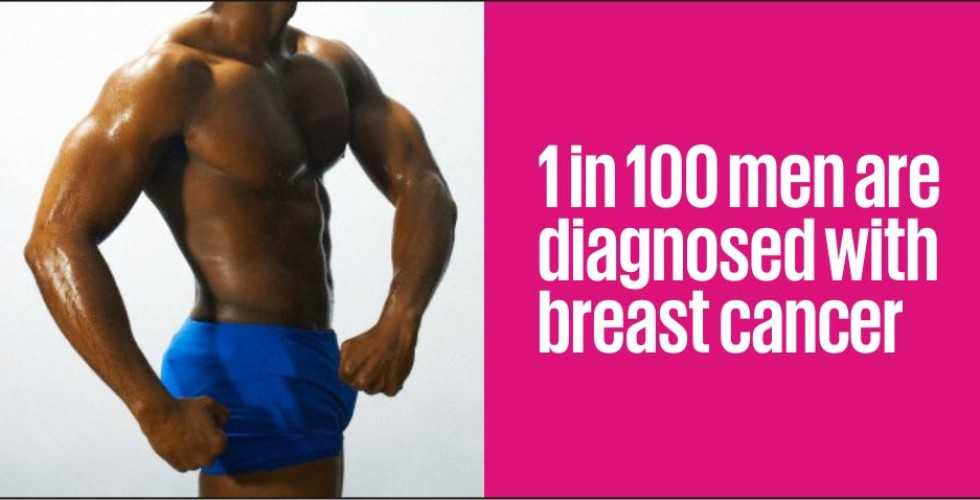 One in one hundred men are diagnosed with breast cancer