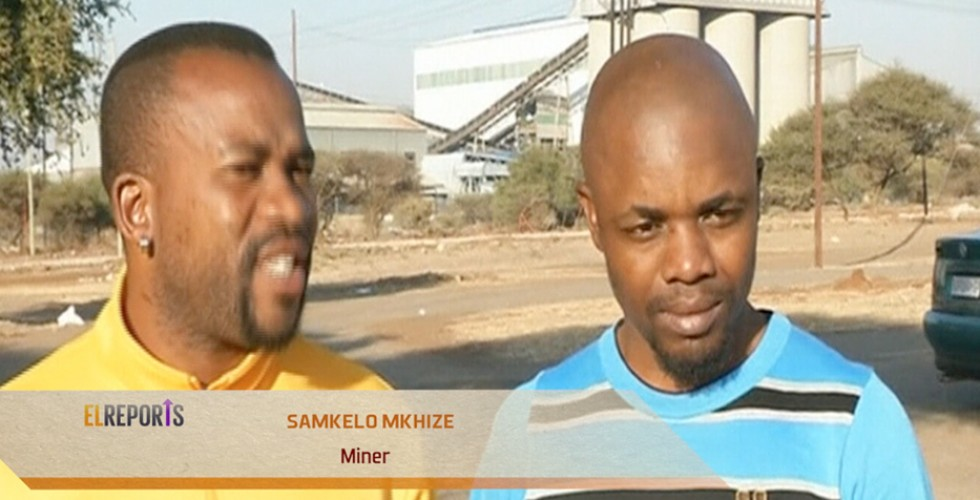 South African mine workers have reacted to the release of Markiana report.