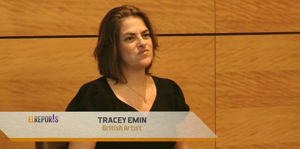 British artist Tracey Emin unveils first solo exhibition in China