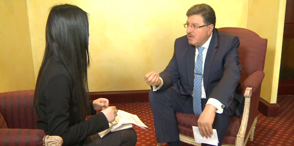 Syrian opposition High Negotiations Committee spokesperson Salim Muslet