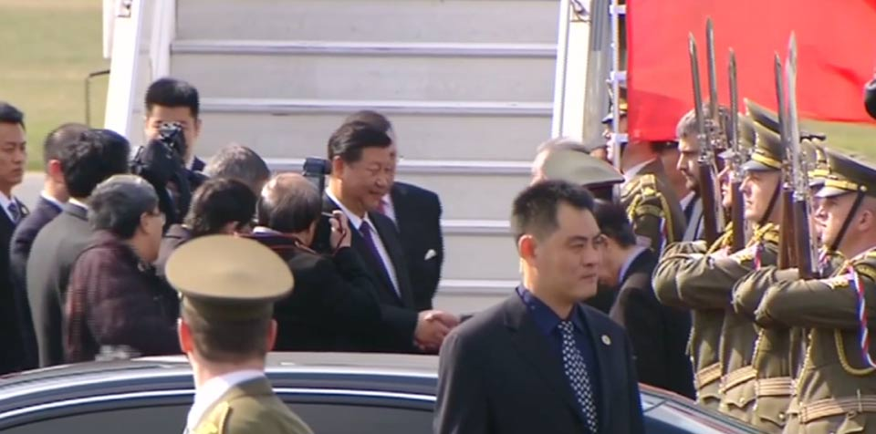 Chinese President Xi Jinping arrives in Prague for state visit