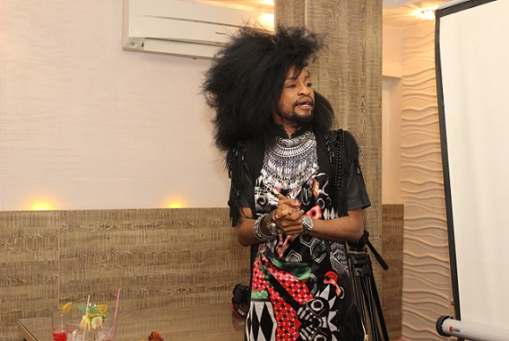 #eXploringHangout's host, Denrele Edun at the launch in Ikoyi 3